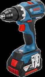 Akum. įrankių rinkinys BOSCH GSR 18V-EC + GDX18V-EC